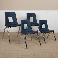 Advantage Navy Student Stack School Chair - 18-inch