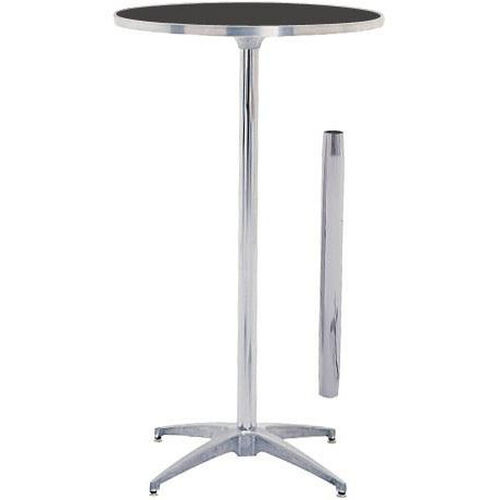 Our Standard Series Round Pedestal Table with Height Adjustable Columns, Chrome Plated Steel Column, and Laminate Top - 30