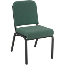 1000 Series Stacking Steel Frame Armless Hospitality Chair with 2'' Upholstered Seat