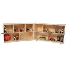 Folding Healthy Kids Plywood Storage Unit - 48-96