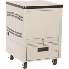 LapTop Depot 8 Capacity Cart - Light Gray