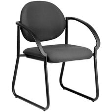 Quick Ship NexStep Sled Base Metal Arm Chair