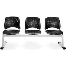 Stars 3-Beam Seating with 3 Plastic Seats