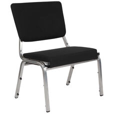 HERCULES Series 1500 lb. Rated Black Antimicrobial Fabric Bariatric Medical Reception Chair with 3/4 Panel Back