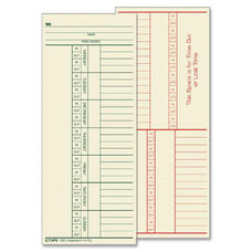 Tops 2-Sided Weekly Time Cards - Pack Of 500