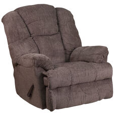 Contemporary Hillel Pewter Chenille Rocker Recliner