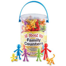 Learning Resources All About Me Family Counters Set - 72 Pieces