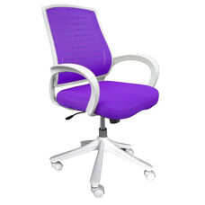 Iona Mesh Chair with White Frame - Purple