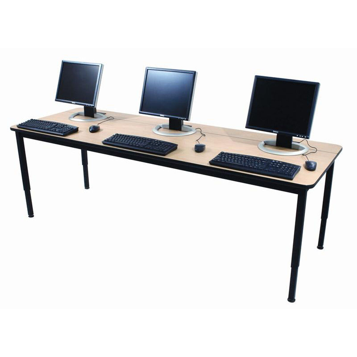 Flip Top Computer Training Table FTT SchoolFurnitureLesscom - Adjustable height training table