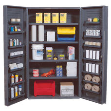 All-Welded Storage Cabinet with 18 Shelves