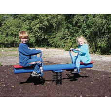 Steel Teeter Spring Rider with Two Polyethylene Seats and Wide Safety Handles - 24