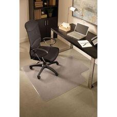 EverLife 45''W x 53''D Medium Pile Anchorbar Chairmat with 25''W x 12''D Lip