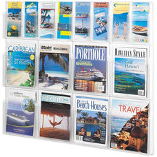 Reveal™ Eight Magazine and Eight Pamphlet Thermoformed Display - Clear