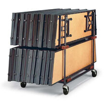 Double Tiered Steel Standing Riser Caddy with Casters - 32