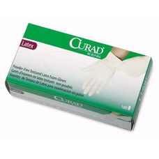 Medline Curad Powder Free Latex Exam Gloves - Small