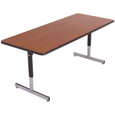 Laminate Top Computer Table with Adjustable Height Pedestal Legs - 18
