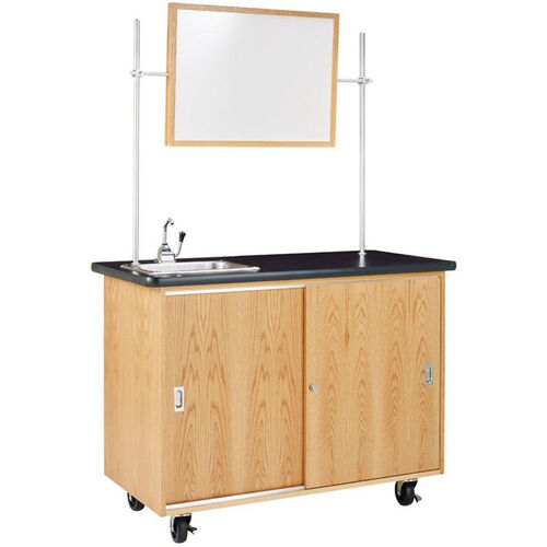 Our Economy Mobile Wooden Science Lab Table with 1.25