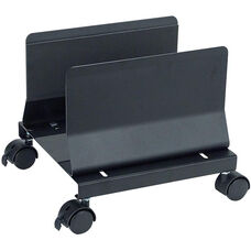 Heavy Duty Metal Mobile CPU Stand - Black