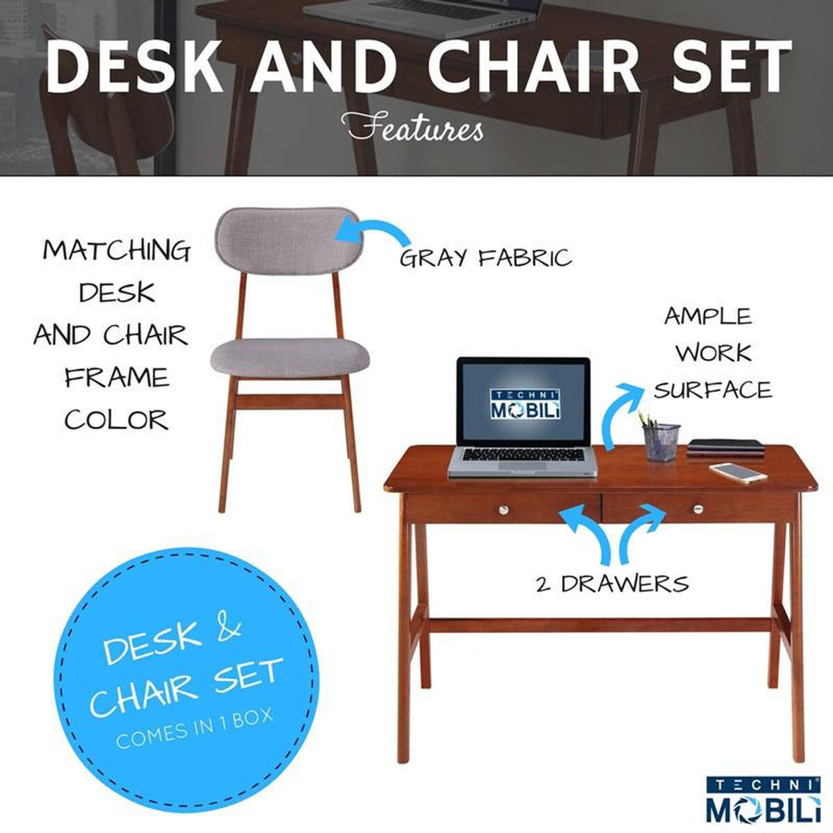 Modern Desk And Chair Set Rta 3602st Mah Schoolfurniture4less Com