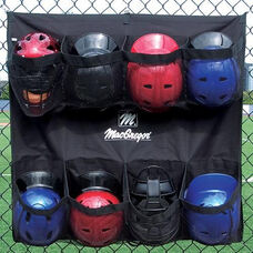 Polyester Hanging Helmet Caddy with 8 Mesh Pockets
