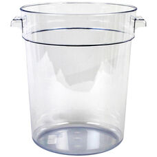 22 Quart Round Food Storage Container in Clear Polycarbonate