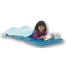 Vinyl Foldable Heavy-Duty Rest Mat - Blue and Teal