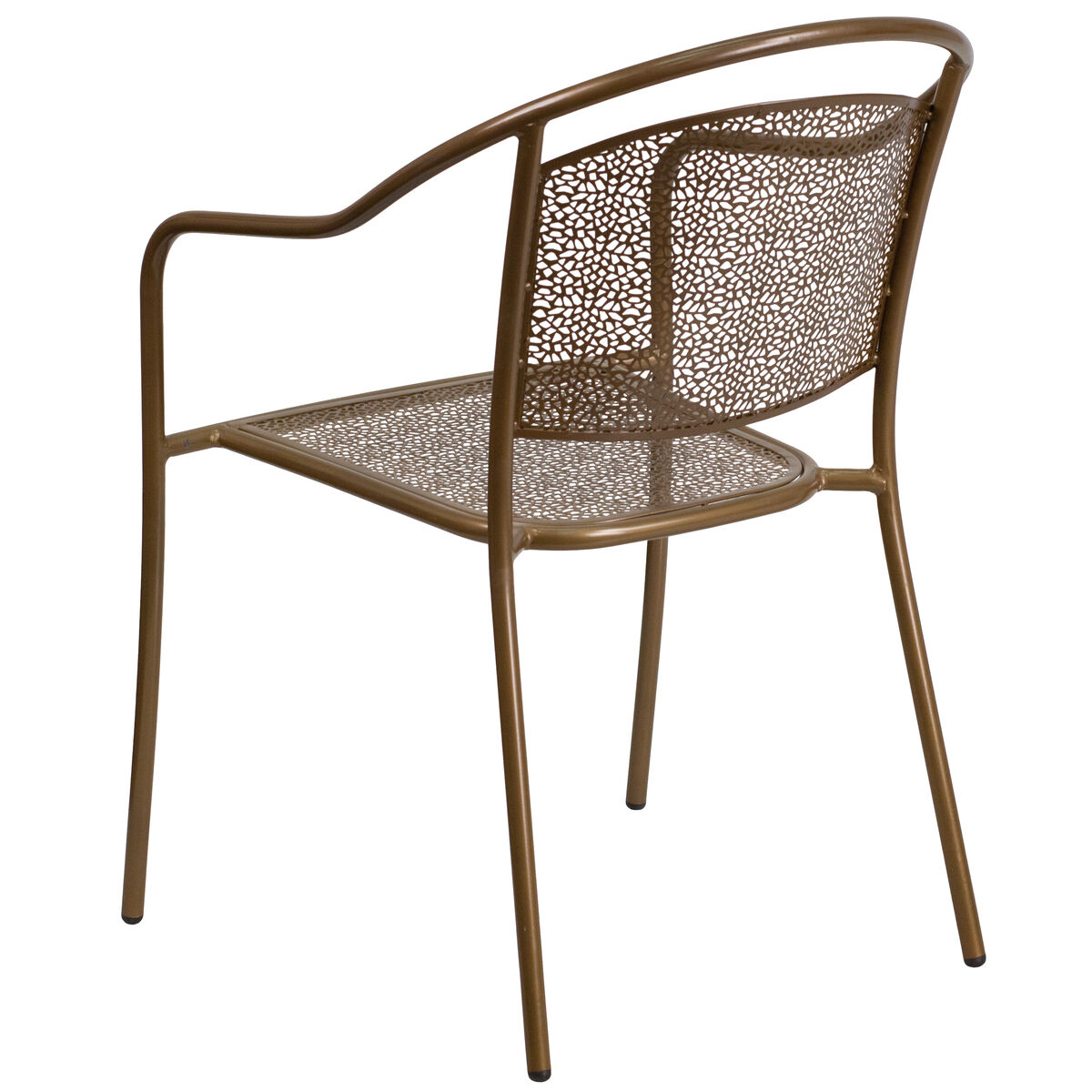 Gold patio chair round back co 3 gd gg for Furniture 4 schools