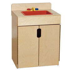 Pretend Play Tip-Me-Not Healthy Kids Plywood Sink - Assembled - 20.5