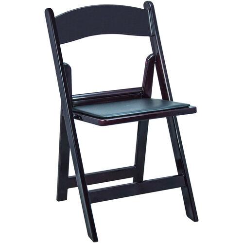 Advantage Mahogany Resin Folding Chairs