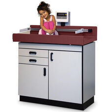 Pediatric Table with Built -In Scale and Drawers - Folkstone Gray Laminate