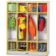 Rainbow Accents Coat Lockers - 4 Sections