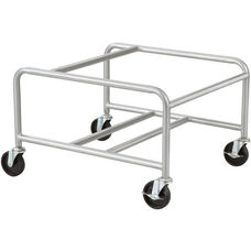 23.5'' W x 27.5'' D x 17'' H Sled Base Stack Chair Cart - Silver
