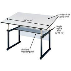 White WorkMaster Drawing Table