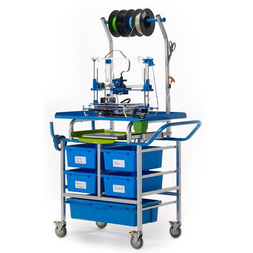 Our Base Model 3D Printer Cart with Adjustable Spool Holder and Sliding Laptop Shelf is on sale now.