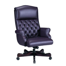 Renaissance Series Rolled Arm High Back Executive Swivel Chair with Tufts