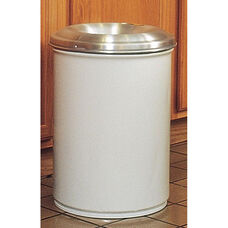 Cease-Fire® Safety Drum 12 Gallon Waste Receptacle with Aluminum Head - White