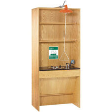 ADA Science Lab Eye Wash Station with 2 Shelves - 36