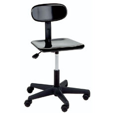 Legacy Series Adjustable Height Lab Stool with Back