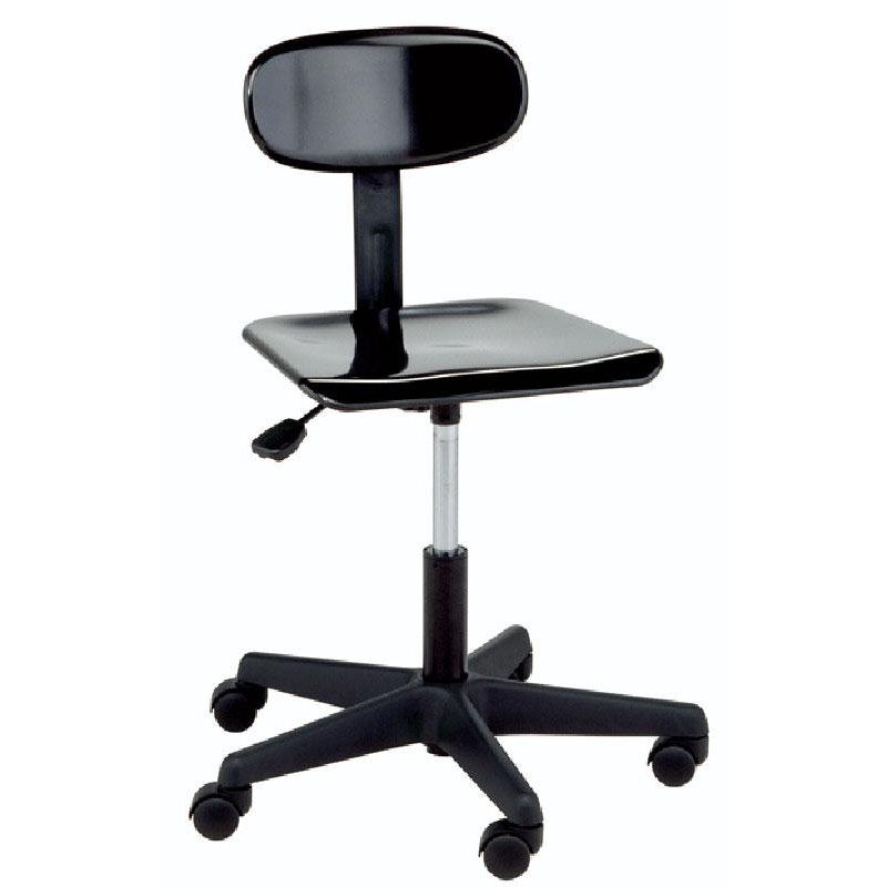 Beau Legacy Series Adjustable Height Lab Stool With Back