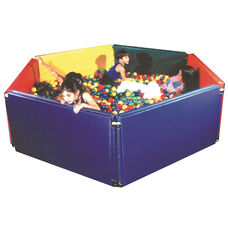 Sensory Ball Environment with 8 Vinyl Wrapped Panels and 9,000 Multicolored 4