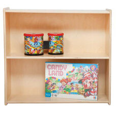 Two Shelf Baltic Birch Plywood Bookshelf with Tuff-Gloss UV Finish - Assembled - 30
