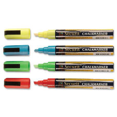 Deflecto Wet-Erase Markers Assorted Colors - Green, Red, Blue, Yellow Ink