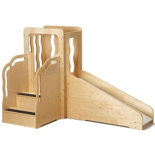 Our Wooden Toddler Sized Mini Loft with Slide - 64