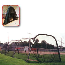 Collapsible Nylon Batting Tunnel with Steel Frame - Black