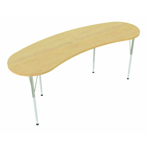 Our 1000 Series Curved Adjustable Height Maple Top Activity Table - 26