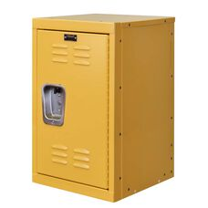 Trophy Yellow Kids Mini Locker - Unassembled - 15''W x 15''D x 24''H