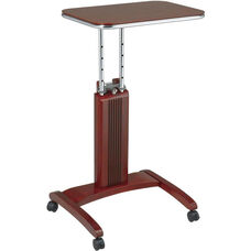 OSP Designs Precision Adjustable Laptop Stand with Casters - Cherry