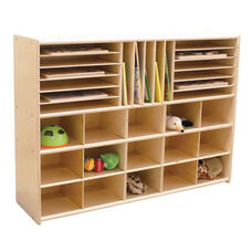 Multi-Shaped Healthy Kids Plywood Cubbie/Book Storage Unit with Tuff-Gloss UV Finish - Assembled - 46.75