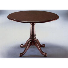 Governors Round Conference Table - Engraved Executive Mahogany