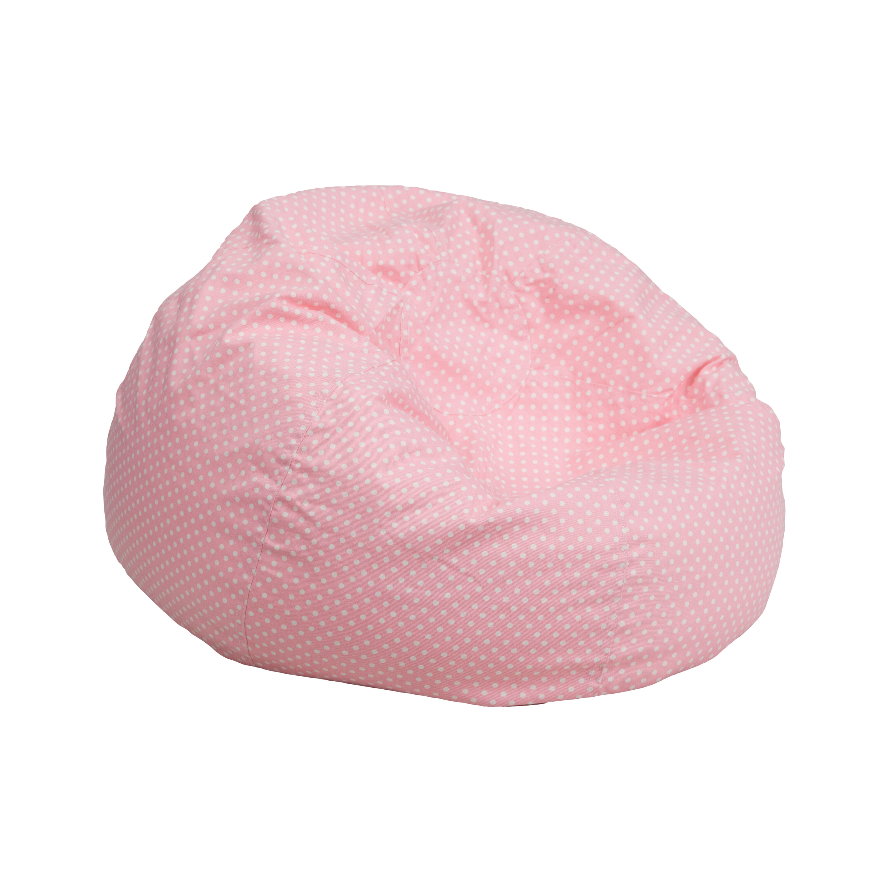 ... Our Small Light Pink Dot Kids Bean Bag Chair Is On Sale Now.